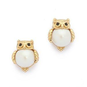 Kate Spade Into The Woods Owl Stud Earrings NWT